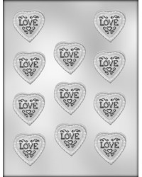 image: Hearts lacey with LOVE chocolate mould