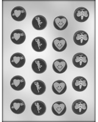 "image: Valentines mints 1 1/8"" chocolate mould"