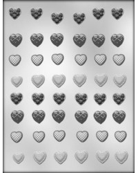 image: Hearts small asstd #2 chocolate mould