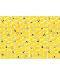 image: Bees & honeycomb pattern background edible image