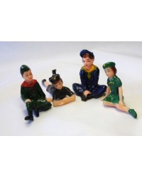 image: set 4 cake toppers girl guides & boy scouts