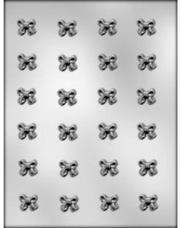 """image: Bows 3/4"""" (24) chocolate mould"""