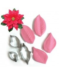 image: Poinsettia flower cutter & veiner set