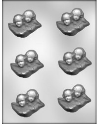 "image: Cherub heads 2 1/2"" chocolate mould"