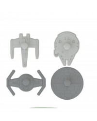 image: Star Wars Space ships cookie cutter set 4 with embosser
