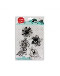 image: Stamp a Cake Flower Flowers Stamp Set