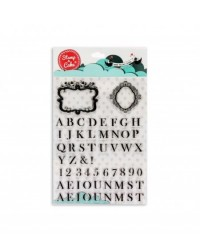 image: Stamp a Cake Monogram alphabet & frame Stamp Set