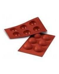 image: Half sphere hemisphere 70mm silicone mould for chocolate & more