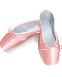 image: Edible Image Ballet Slippers pink