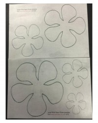image: Wafer paper sheet Flower template #2 Large (2 sheets)