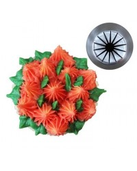 image: Large flower icing tip nozzle Rope Twist Flower (Russian Style)