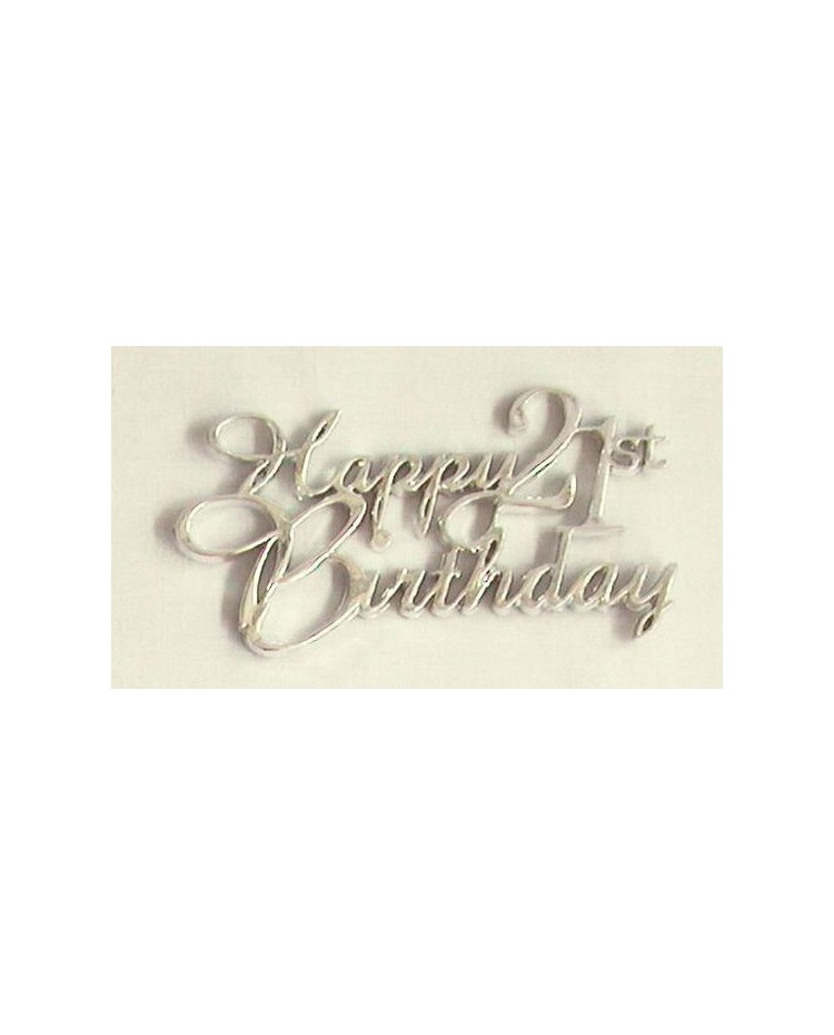 image: 21st Happy birthday plaque Silver
