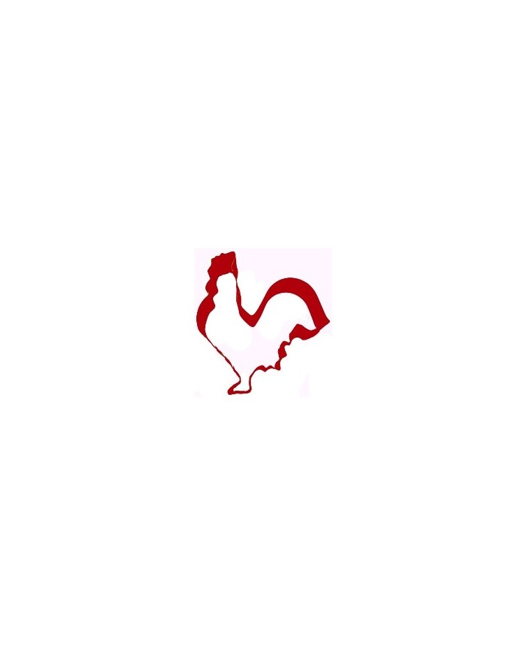image: Rooster red metal cookie cutter