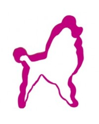 image: Poodle Pink Metal cookie cutter