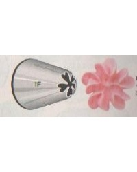 image: Large Wilton icing nozzle tip 1F Drop Flower