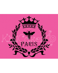 image: Kiwiana stencil Paris Wreath