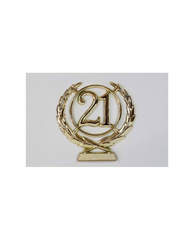 image: number wreath 21 GOLD