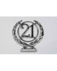image: number wreath 21 SILVER