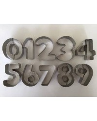 image: Number cookie cutter set 0-9 Stainless Steel (5cm)