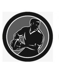 image: Edible Image Black Rugby Player