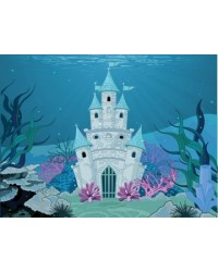 image: A4 Under the Sea Mermaid Castle edible image
