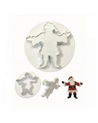 image: PME Santa Claus Father Christmas set 2 cutter embosser plunger