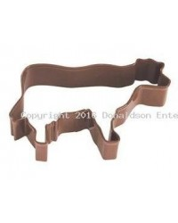 image: Cow brown metal cookie cutter
