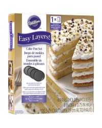 """image: Easy Layers 8"""" Cake Pan Set of 4 (great for rainbow cakes)"""