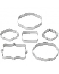 image: Set 6 fondant plaque or cookie cutters