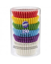 image: Rainbow mini cupcake papers 150