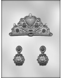 image: Tiara crown & Earrings - Jewellery chocolate mould