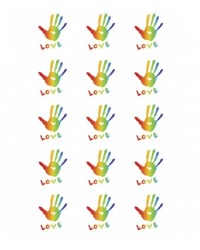image: Cupcake edible images (15) LOVE Rainbow Hands