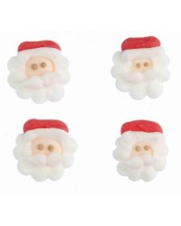 image: Santa face sugar icing decorations pack of 12
