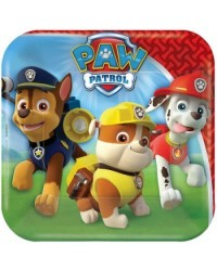 image: Paw Patrol party luncheon plates square (8)