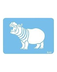 image: Jem Hippo African or Zoo animal stencil