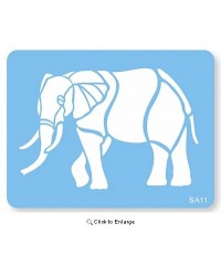 image: Jem Elephant African or Zoo animal stencil