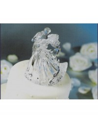 image: Clear Bianca bridal couple crystal look