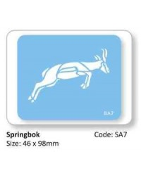 image: Jem Springbok African or Zoo animal stencil