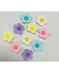 image: Edible Sugar Flower blossoms pack of 25 Great for Cupcakes