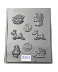 image: Christmas asstd chocolate mould Santa & Reindeer