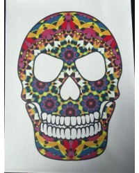 image: A4 Day of the Dead Skull edible image