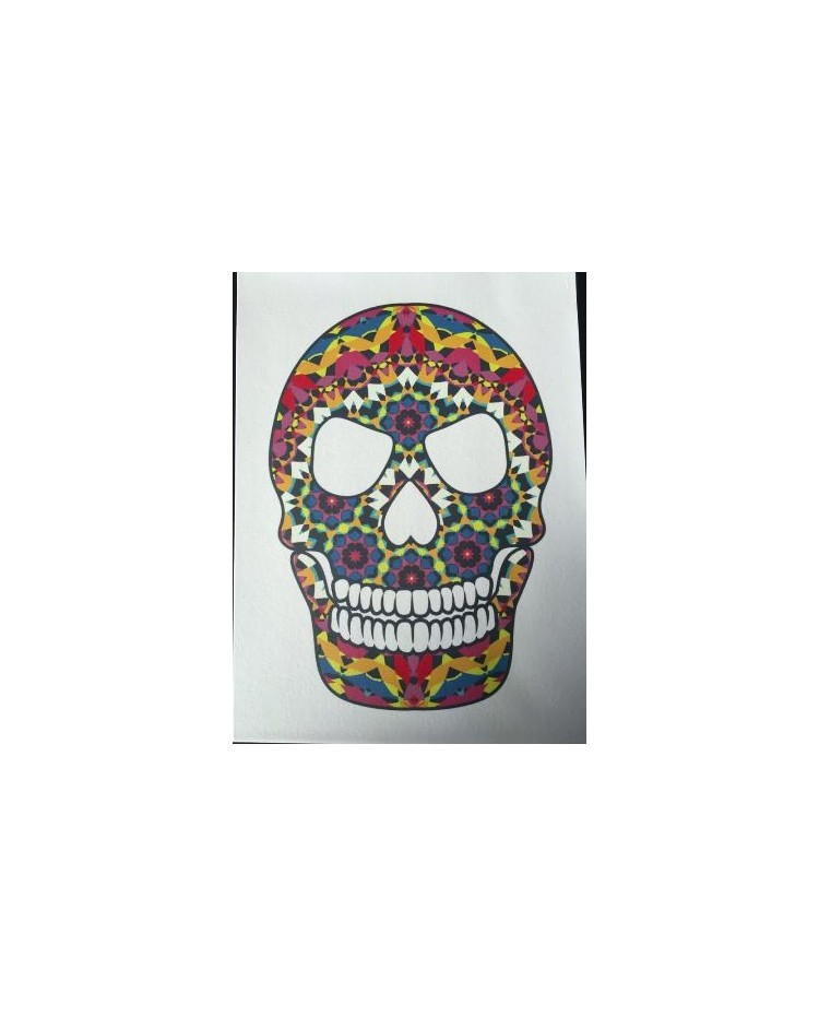 A4 Day Of The Dead Skull Edible Image