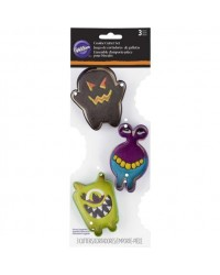 image: Monsters Halloween set 3 cookie cutter Monster