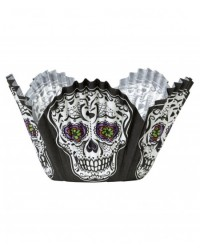 image: Skulls Skull Petal Shaped Standard Cupcake Papers
