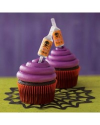 image: Halloween shot tops cupcake papers & bottle pipettes