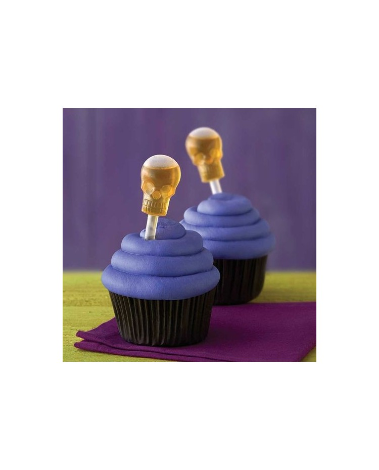 image: Halloween shot tops cupcake papers & SKULL pipettes