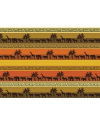image: A4 African Safari animals pattern edible image