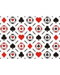 image: A4 Card Suits & Poker Chips pattern edible image