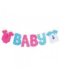image: A4 Baby Clothesline Baby Shower edible image
