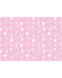 image: A4 Baby Shower pattern background PINK edible image